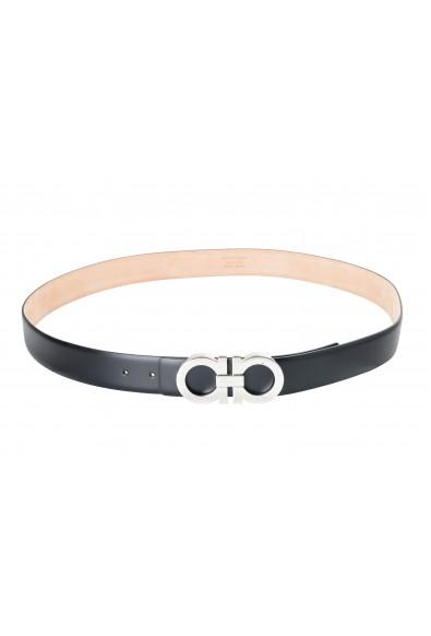 Salvatore Ferragamo Men's Black 100% Leather Buckle Decorated Belt: Picture 2