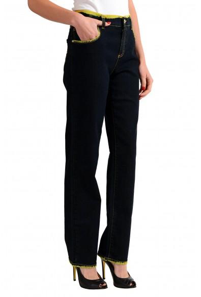 Versace Jeans Distressed Women's Straight Leg Denim Jeans: Picture 2