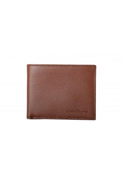 Salvatore Ferragamo Men's Brown 100% Pebbled Leather Bifold Wallet