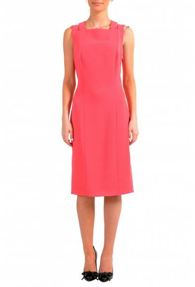 "Hugo Boss Women's ""Daphima"" Pink Sleeveless Pencil Dress"