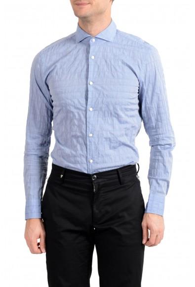 "Hugo Boss Men's ""Jason"" Blue Slim Fit Long Sleeve Dress Shirt: Picture 2"