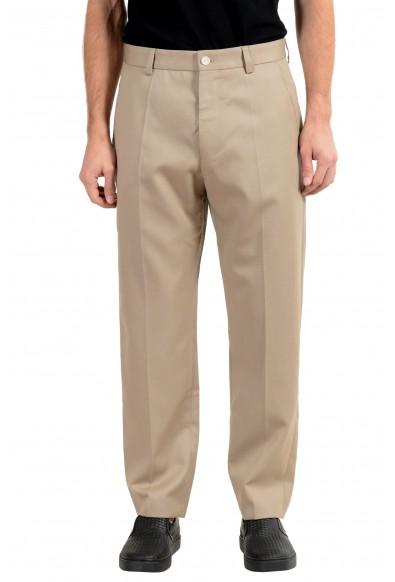 "Hugo Boss ""Paz"" Men's 100% Wool Beige Casual Pants"