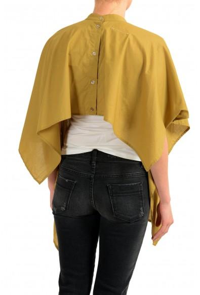 Maison Margiela MM6 Women's Khakis Cape Look Asymmetrical Button Top: Picture 2