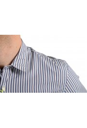 Etro Men's Multi-Color Striped Long Sleeve Button Down Casual Shirt: Picture 6
