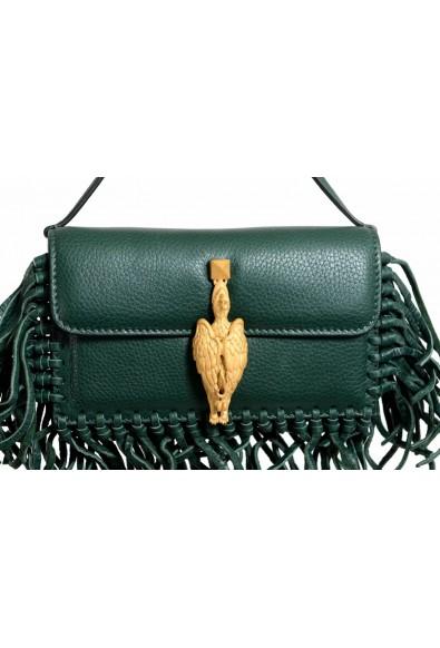 Valentino Garavani Women's 100% Leather Fringe Green Griffin Handbag Clutch Bag: Picture 2