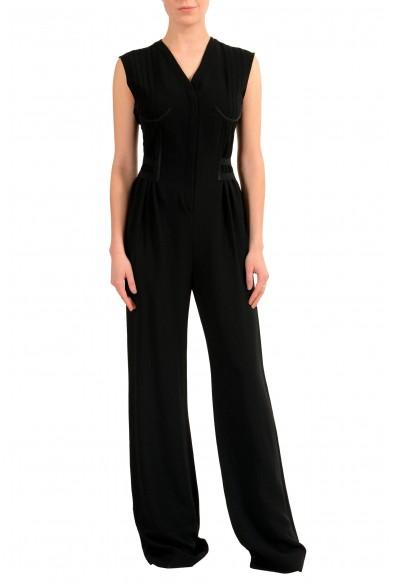 Maison Margiela 1 Women's Wool Black Sleeveless Straight Leg Jumpsuit: Picture 2