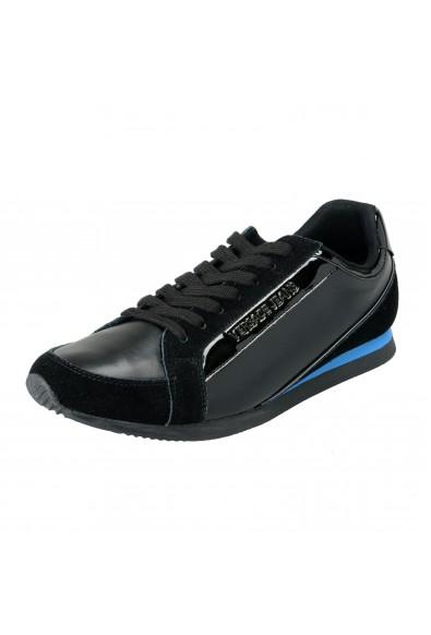 Versace Jeans Men's Black Leather Mesh Fashion Sneakers Shoes