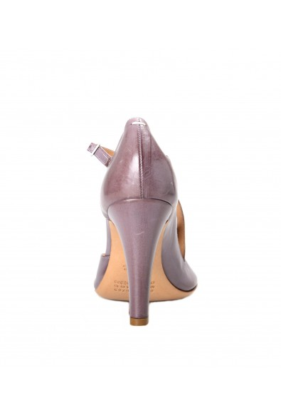 Maison Margiela Women's Distressed Look Purple Leather Heeled Pumps Shoes: Picture 2
