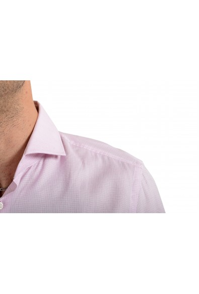"Hugo Boss Men's ""Jason"" Pink Plaid Slim Fit Long Sleeve Dress Shirt: Picture 2"