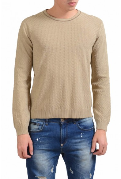Malo Caramel Brown Men's Crewneck Light Sweater