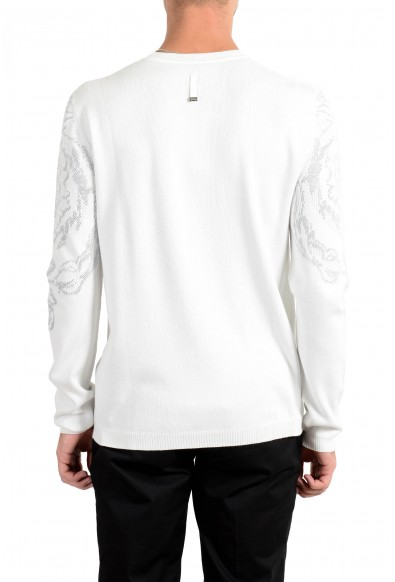 Versace Collection Men's White Designed Crewneck Sweater: Picture 2