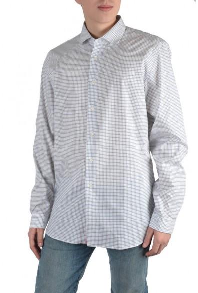 Prada Men's Multi-Color Plaid Long Sleeve Dress Shirt