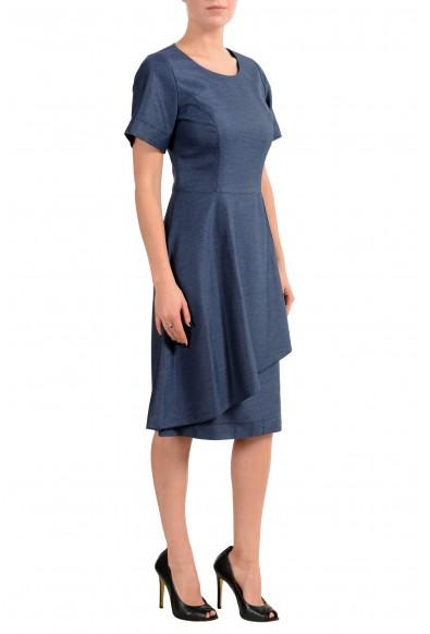 "Hugo Boss ""Kedrila"" Women's Blue Short Sleeve Sheath Dress : Picture 2"