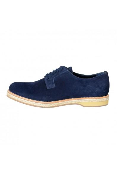 Prada Men's Blue Suede Lace Up Oxfords Shoes: Picture 2