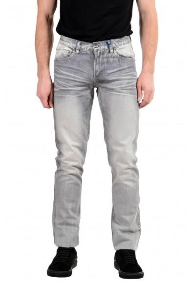 Versace Jeans Men's Gray Regular Fit Skinny Jeans
