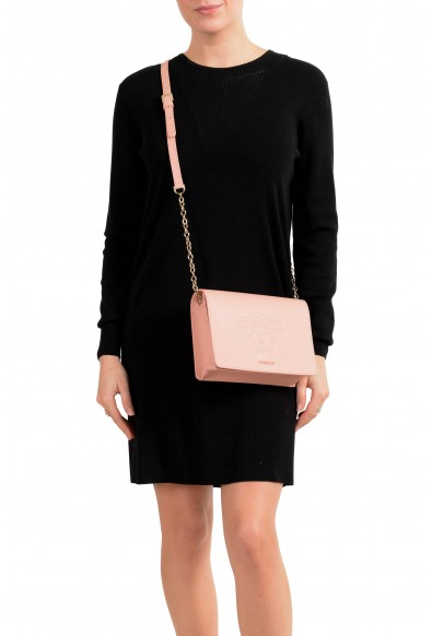 Versace Women's Dust Pink Medusa Textured Leather Crossbody Bag: Picture 2