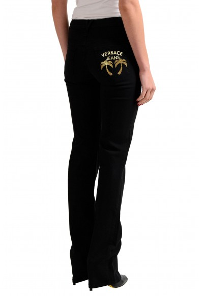 Versace Jeans Black Straight Legs Women's Embellished Jeans: Picture 2
