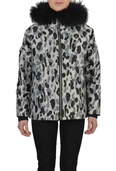 """Authentic Moncler """"ADA"""" Women's Real Fur Trim Down Parka Jacket"""