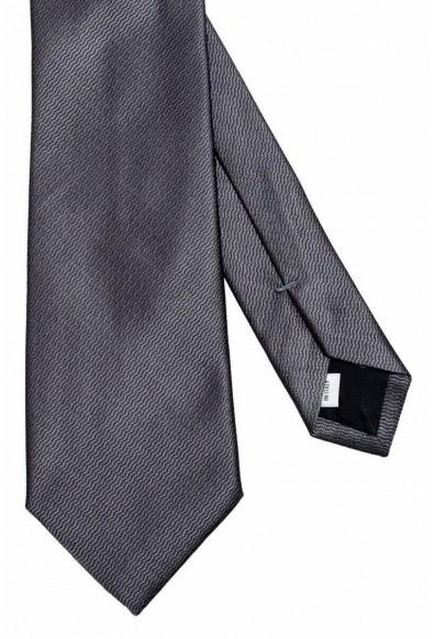 Valentino Men's 100% Silk Gray Geometric Print Neck Tie