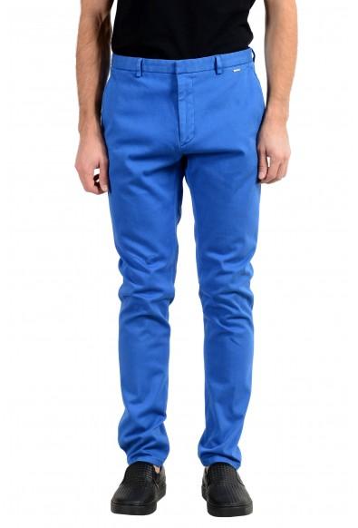 "Hugo Boss ""Glen194D"" Men's Blue Stretch Casual Pants"