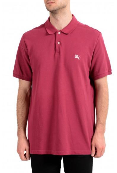 Burberry Brit Men's Raspberry Short Sleeve Polo Shirt
