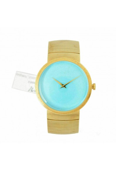 Christian Dior La D De Dior Turquoise Dial Solid Swiss Gold Watch