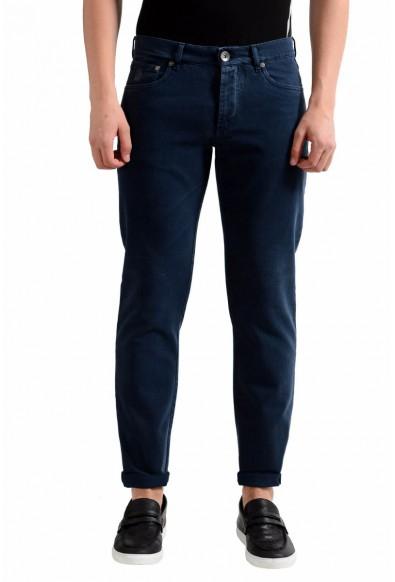 Brunello Cucinelli Men's Navy Blue Slim Fit Jeans