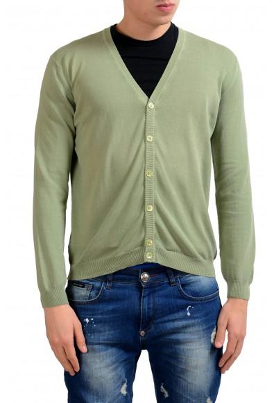 Malo Men's Green Cardigan Sweater