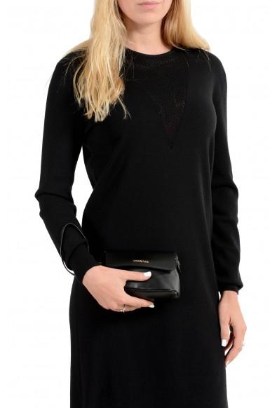Versace 100% Leather Black Women's Handbag Clutch Bag: Picture 2