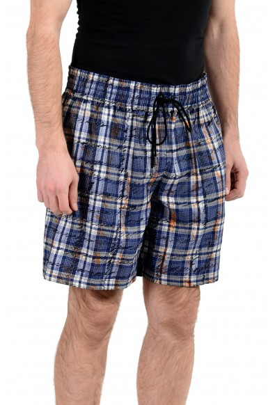 Burberry Men's 100% Silk Graphic Casual Shorts: Picture 2