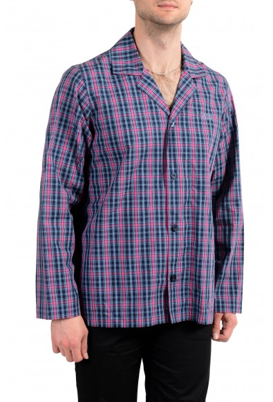 Hugo Boss Men's Plaid Long Sleeve Cotton Pajama Shirt: Picture 2