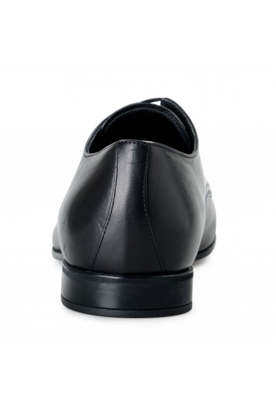 Prada Men's 2E2748 Black Leather Lace Up Oxfords Shoes: Picture 2