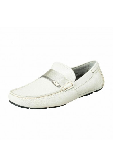 "Salvatore Ferragamo Men's ""Rio"" Pebbled Leather Driving Moccasins Shoes"