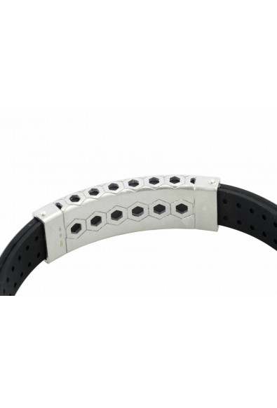 BARAKA Men's BR283191ROAG200000 Rose Gold Silver Stainless Steel Rubber Bracelet: Picture 2