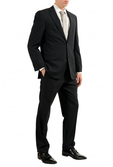 """Hugo Boss """"Paolini1/Movio1US"""" Men's 100% Wool Black Two Button Suit: Picture 2"""