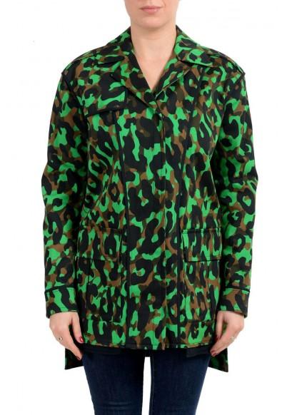 Versace Women's Multi-Color Button Up Jacket