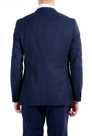 """Hugo Boss """"Novan5/Ben2"""" Men's 100% Wool Slim Blue Plaid Two Button Suit: Picture 2"""