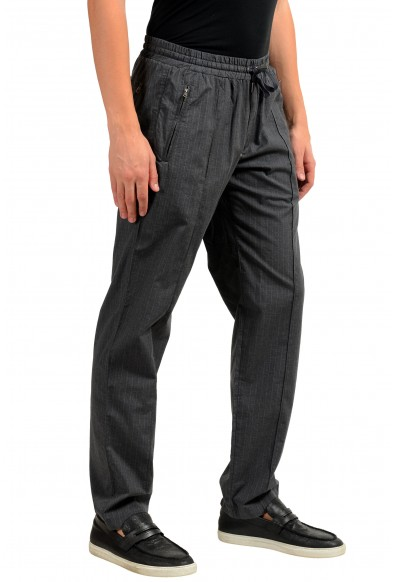 Dolce & Gabbana Men's Gray Striped Elastic Waist Casual Pants : Picture 2