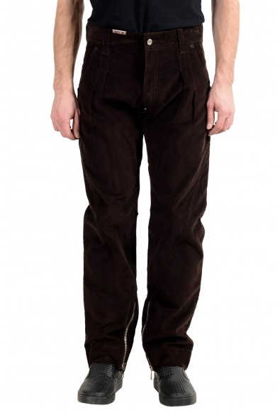 Dolce&Gabbana Men's Brown Pleated Corduroy Casual Pants