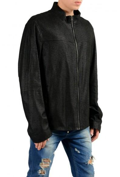 "Hugo Boss ""Dalmin"" Men's 100% Leather Black Full Zip Jacket: Picture 2"