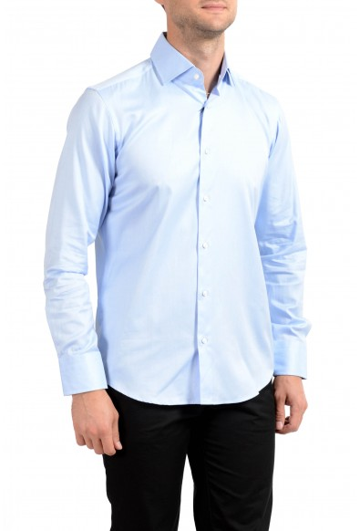 """Hugo Boss Men's """"Gerald"""" Regular Fit Blue Long Sleeve Dress Shirt"""