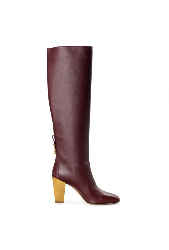 "Salvatore Ferragamo Women's ""BLAVY"" Leather High Heel Boots Shoes: Picture 4"