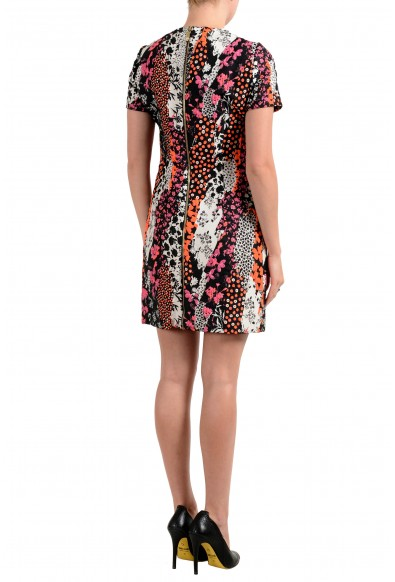 Versace Women's Silk Short Sleeve Jacquard Sheath Dress: Picture 2
