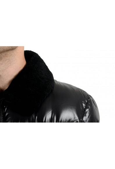 Roberto Cavalli Men's Fur Duck Down Black Full Zip Parka Jacket: Picture 2