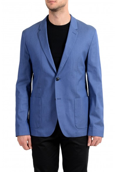 "Hugo Boss ""Areltu"" Men's Blue Dotted Two Button Blazer Sport Coat"