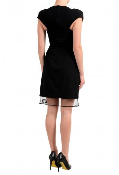 Versace Women's Wool Black Sleeveless Sheath Dress: Picture 2