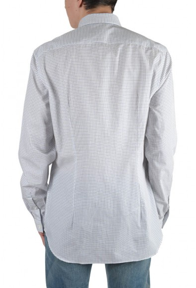 Prada Men's Multi-Color Plaid Long Sleeve Dress Shirt : Picture 2