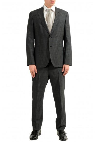 "Hugo Boss ""Johnstons2/Lenon"" Men's 100% Wool Plaid Two Button Suit"