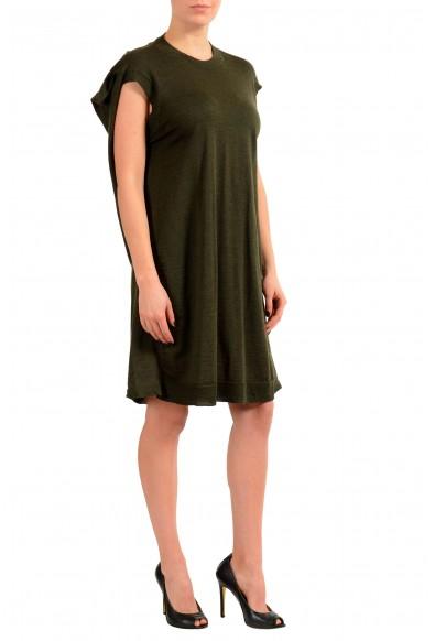 Maison Margiela 4 100% Wool Green Knitted Women's Tunic Dress: Picture 2