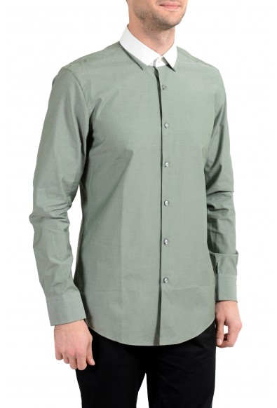 "Hugo Boss ""Jerrell"" Men's Slim Green Long Sleeve Dress Shirt"